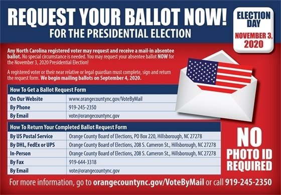 Request your ballot now!