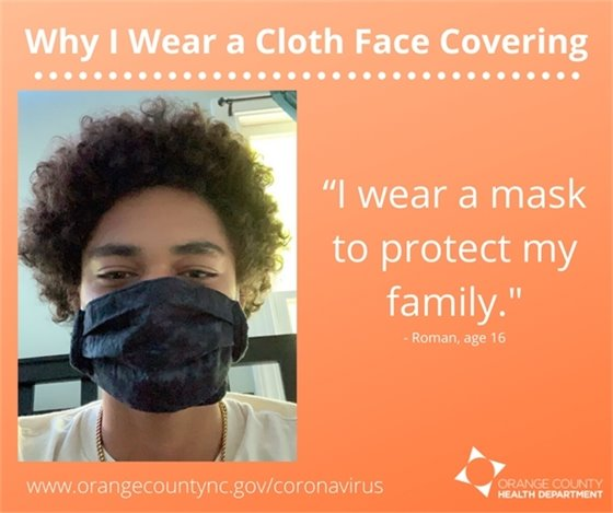 Why I wear a Cloth Face Covering