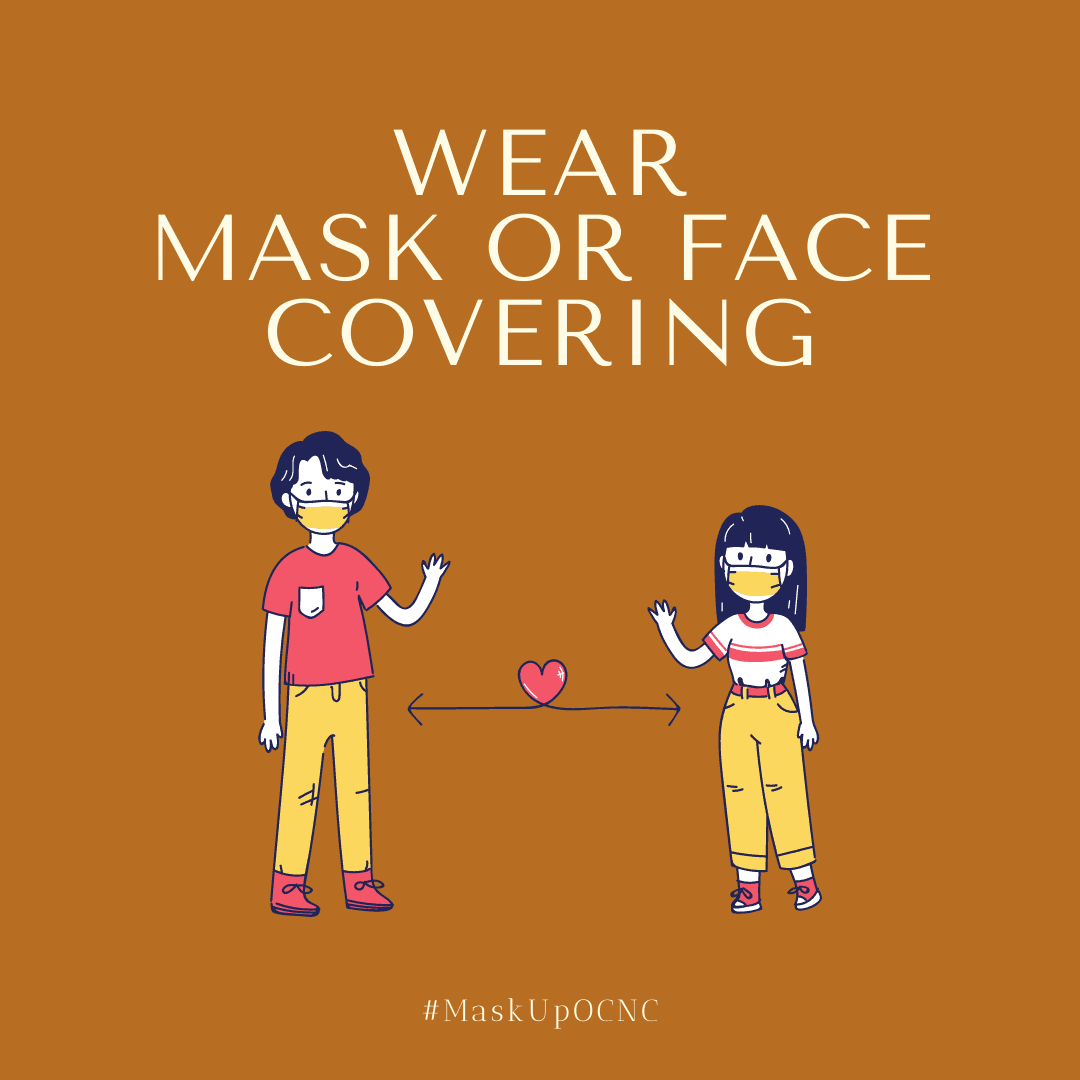 Wear a mask or face covering info-graphic