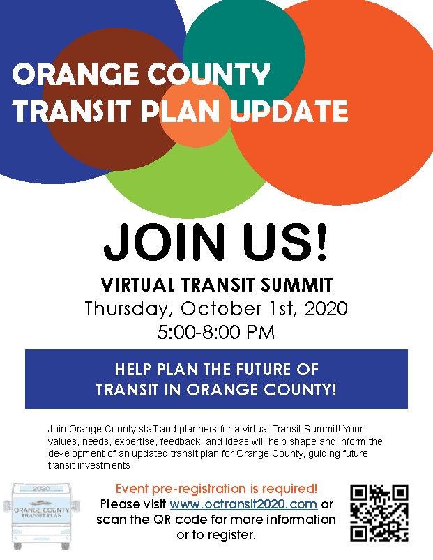 Orange County Transit Summit Flyer in English