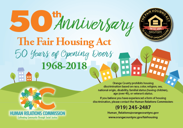 50th Anniversary - Fair Housing Act