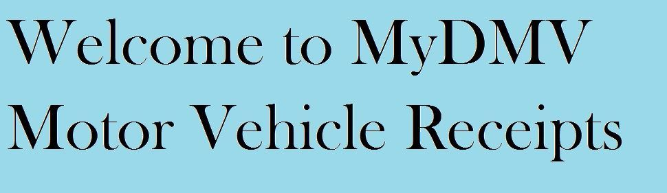 DMV Motor VehicleReceipts