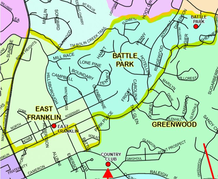 Map of East Franklin precinct