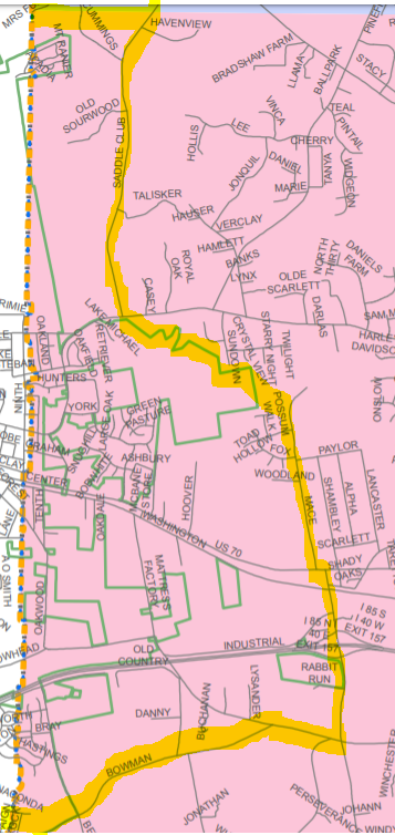 Map of proposed new precinct in Mebane area
