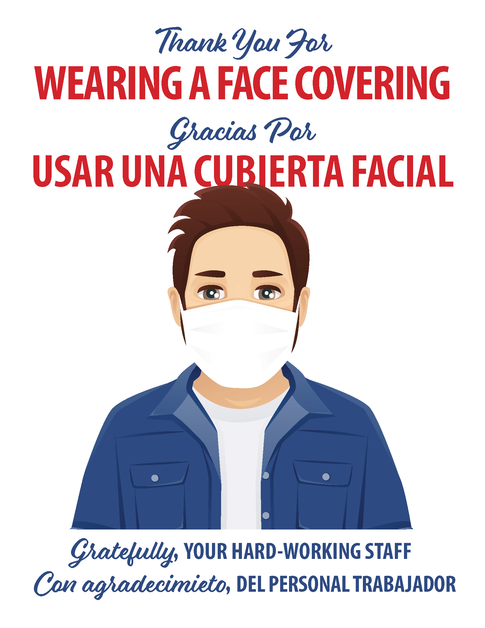 Business Face Covering - English & Spanish Opens in new window