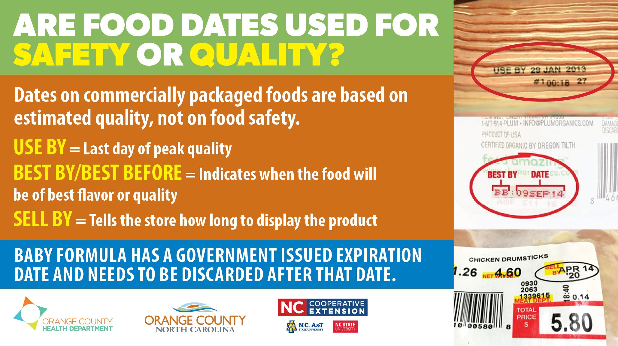Are Food Dates used for Safety or Quality - English Opens in new window