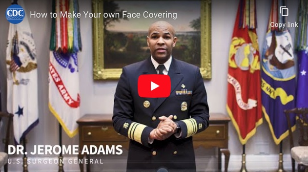 CDC Jerome Adams Video Opens in new window