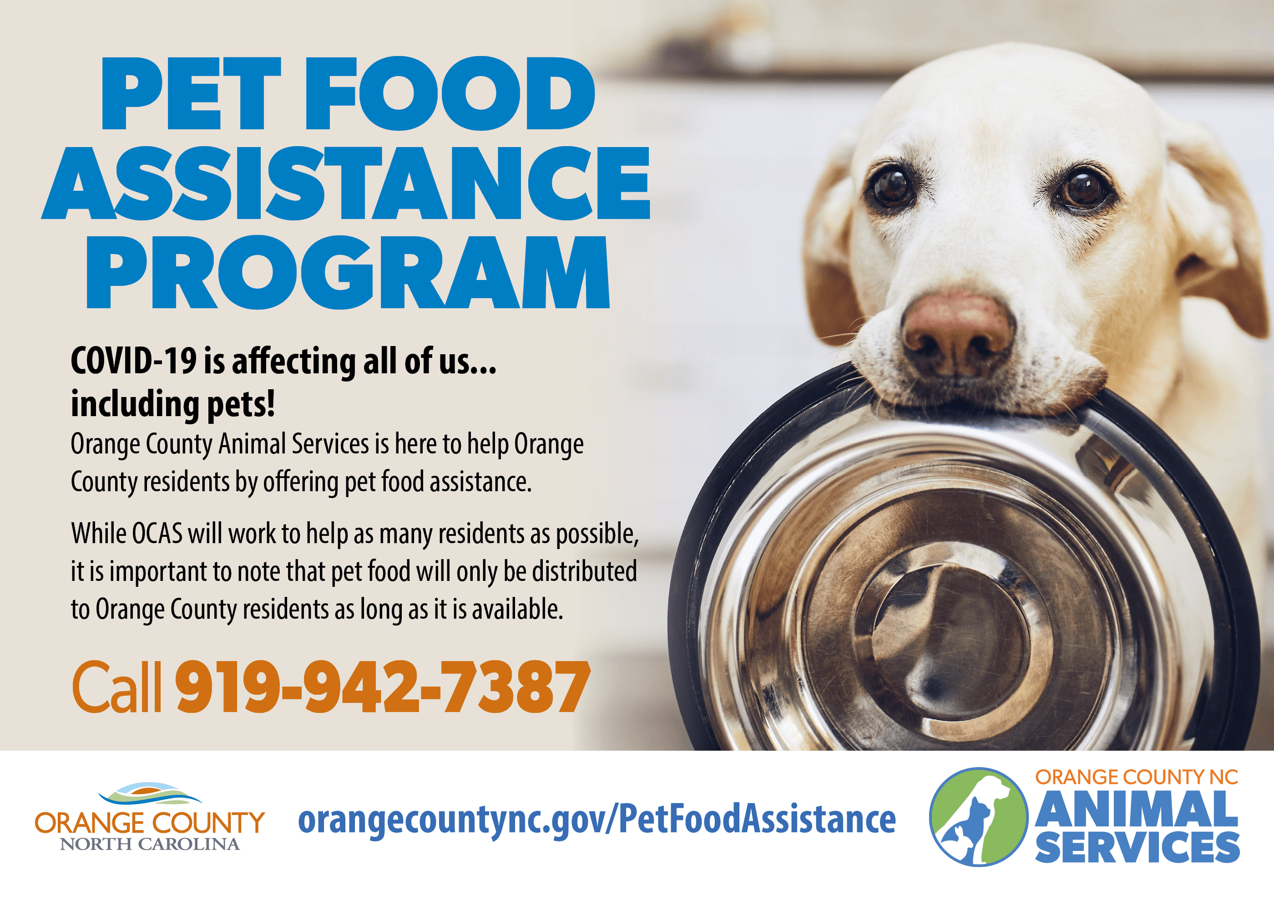 PET FOOD ASSISTANCE Program Opens in new window