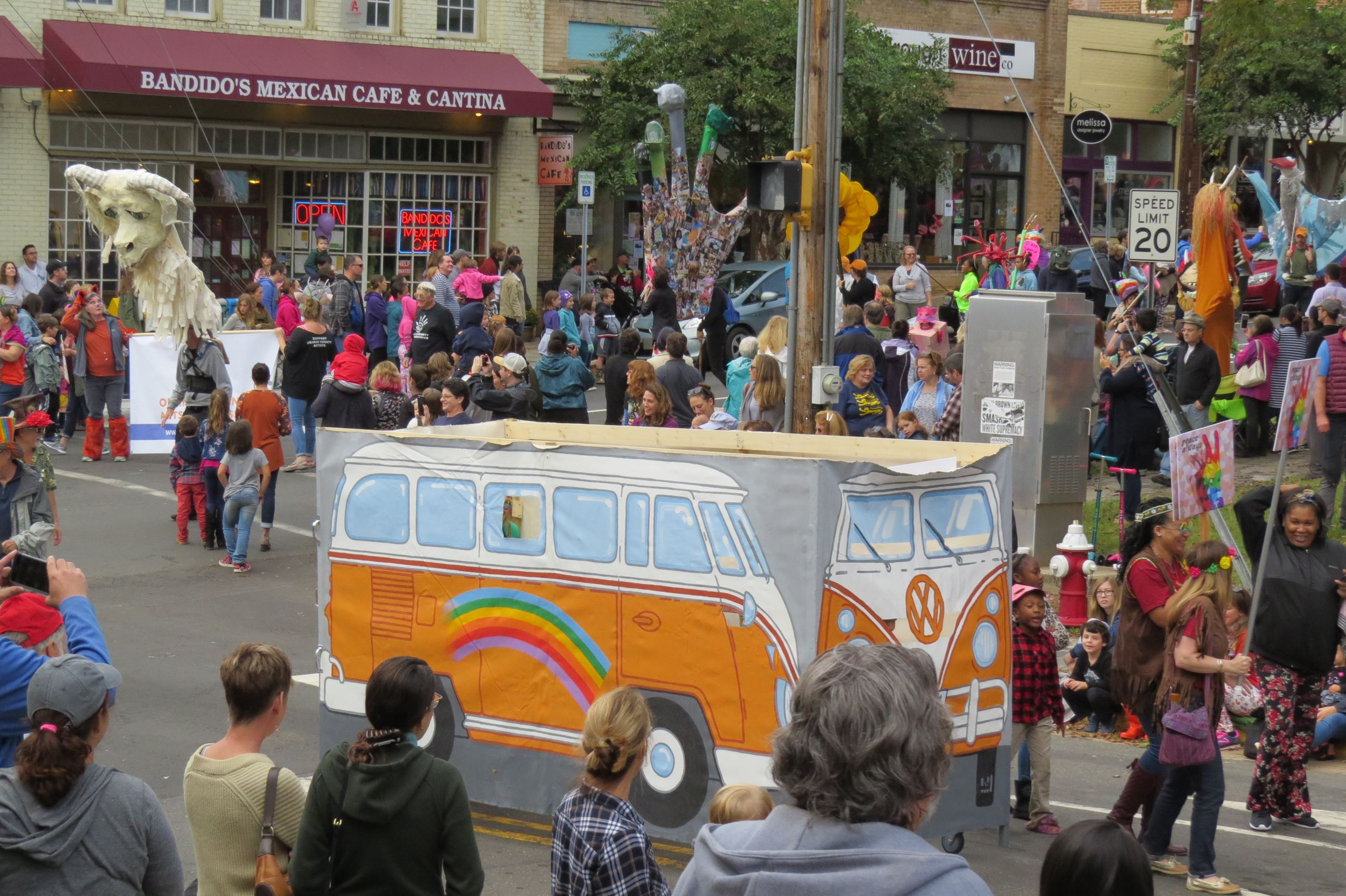 Bus in parade two