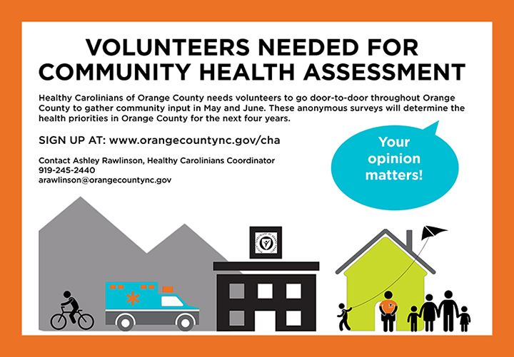 call for health assessment volunteers