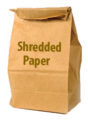 shredded paper ONLY