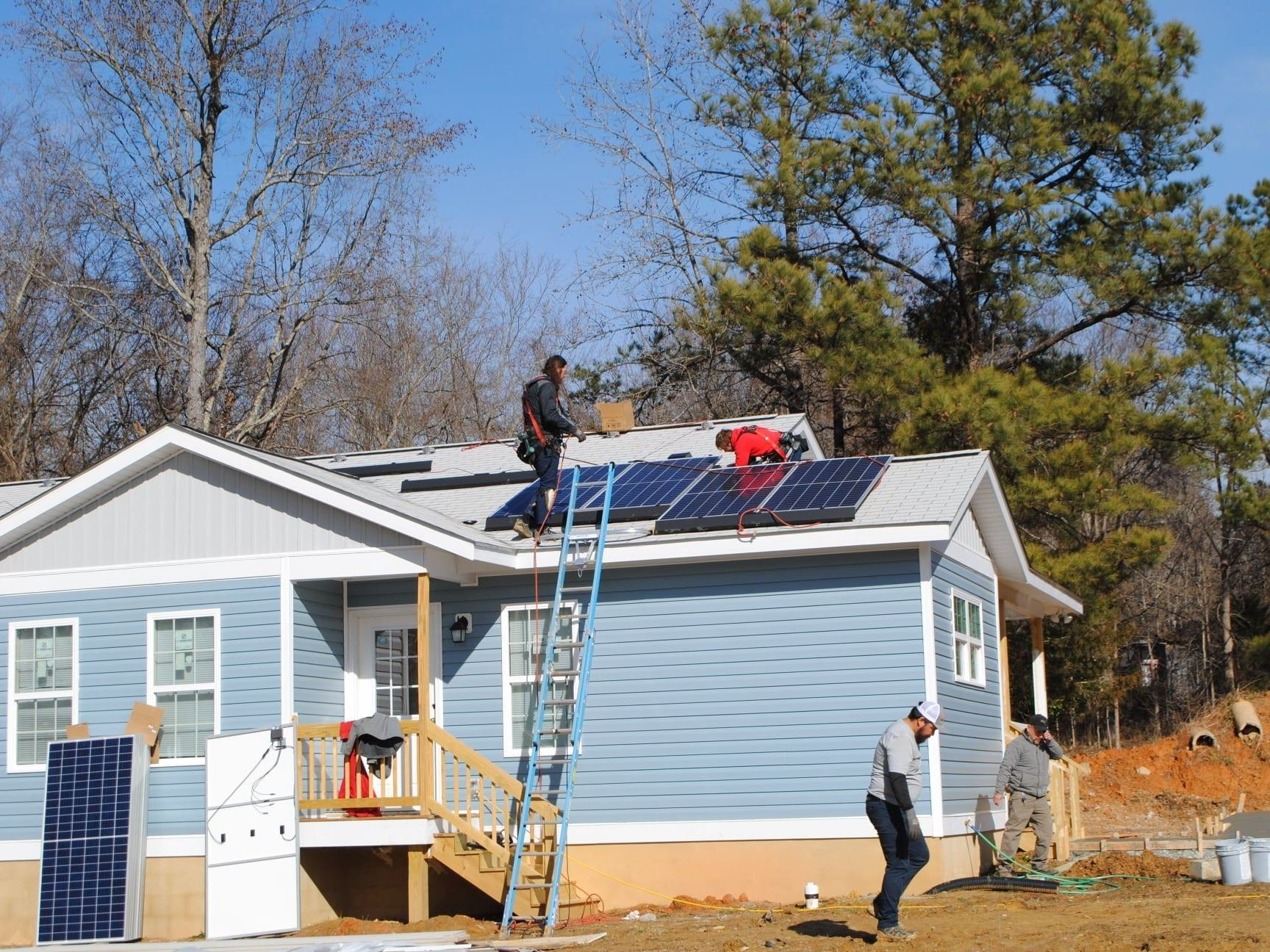 Photo of rooftop solar panels on Habitat home