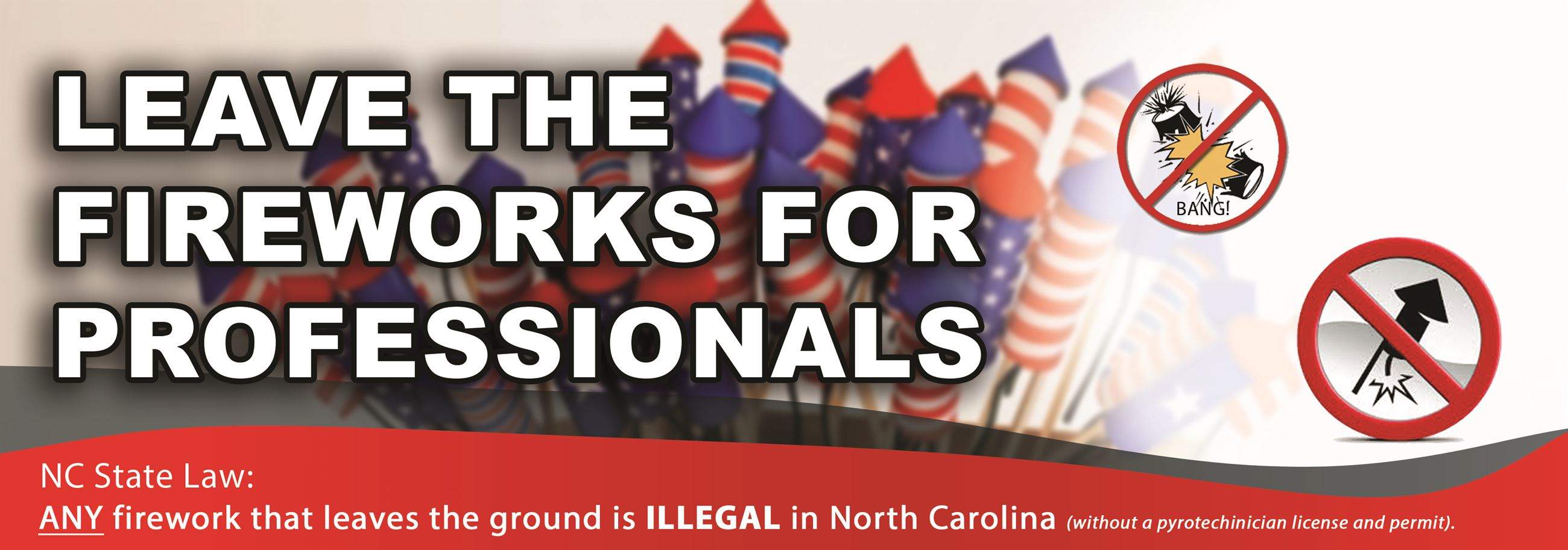 Leave the Fireworks for Professionals - Click for Rules and Safety