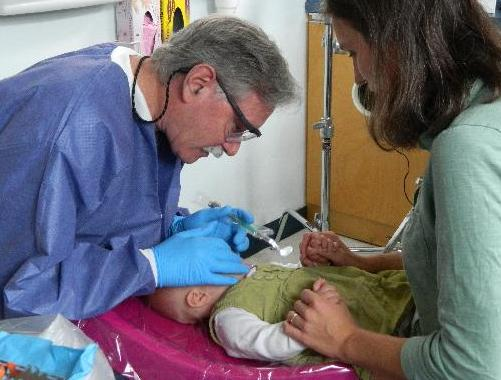 Dentist Working on a Child