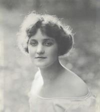 Black and white photo of Rebecca B Wall