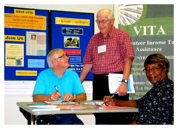 Vita Volunteers at Event