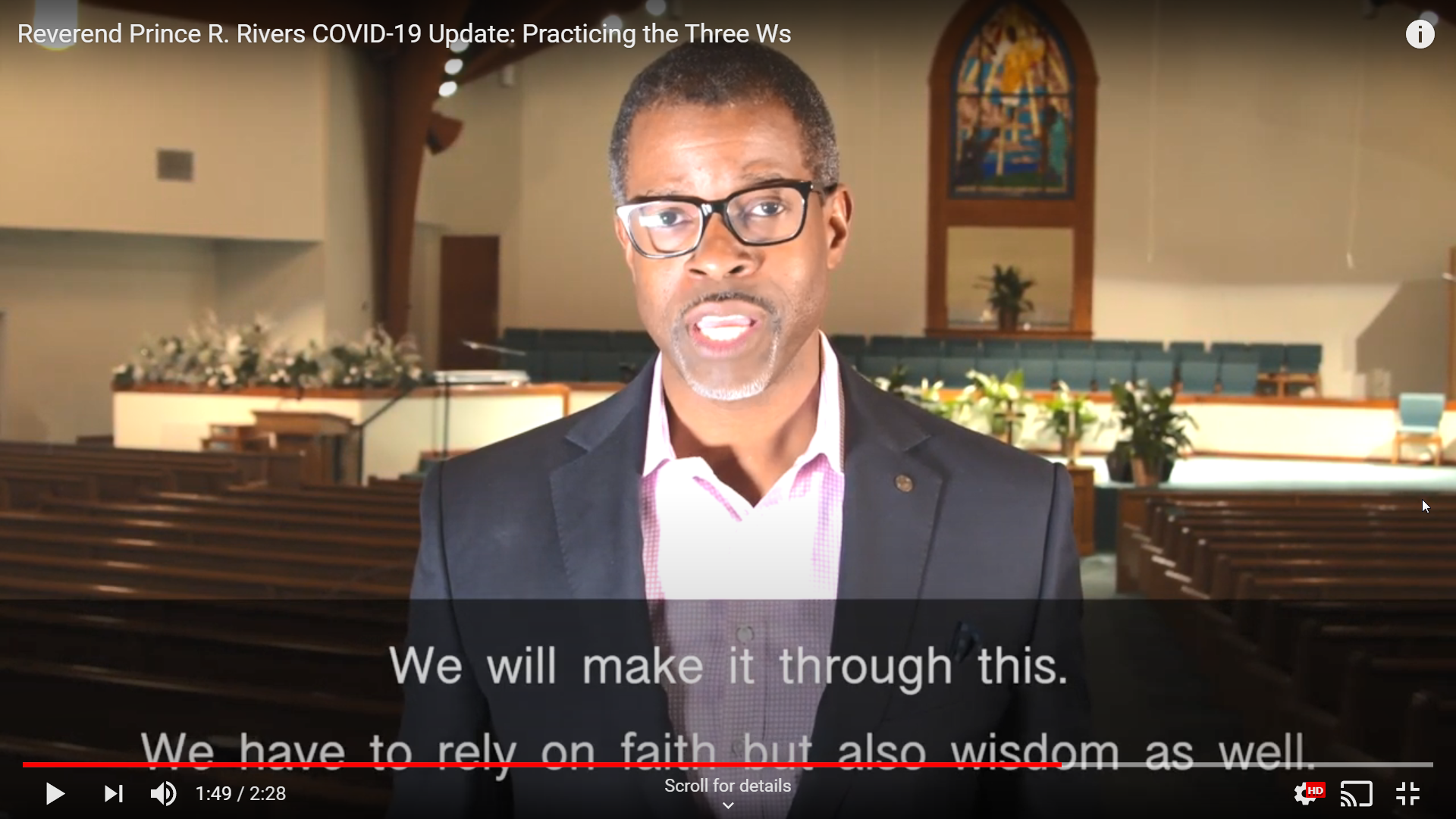 Reverend Prince R. Rivers Video
