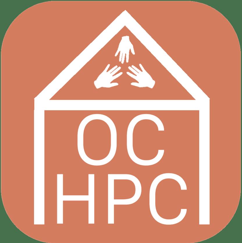 OCHPC logo - house with hands