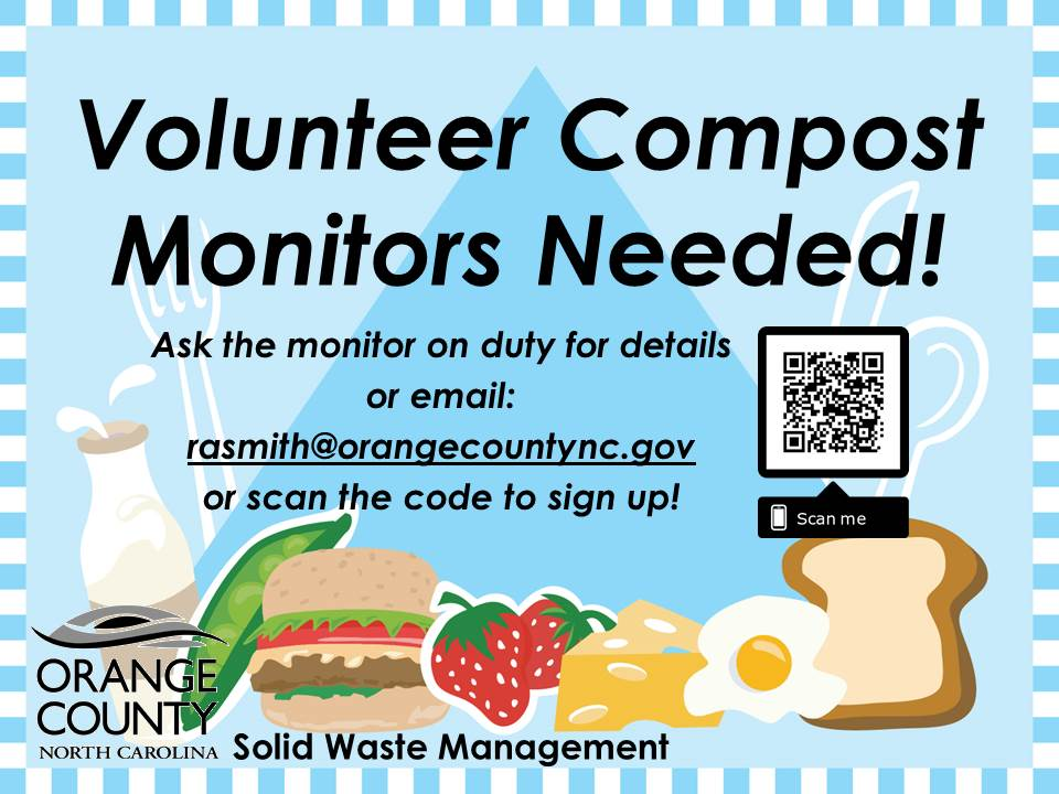 Volunteer Compost Monitors Needed